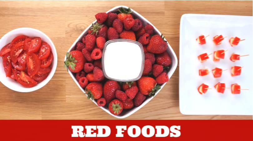 delicious red snacks for preschool. #twitchetts