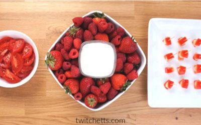 11 red snacks for preschool