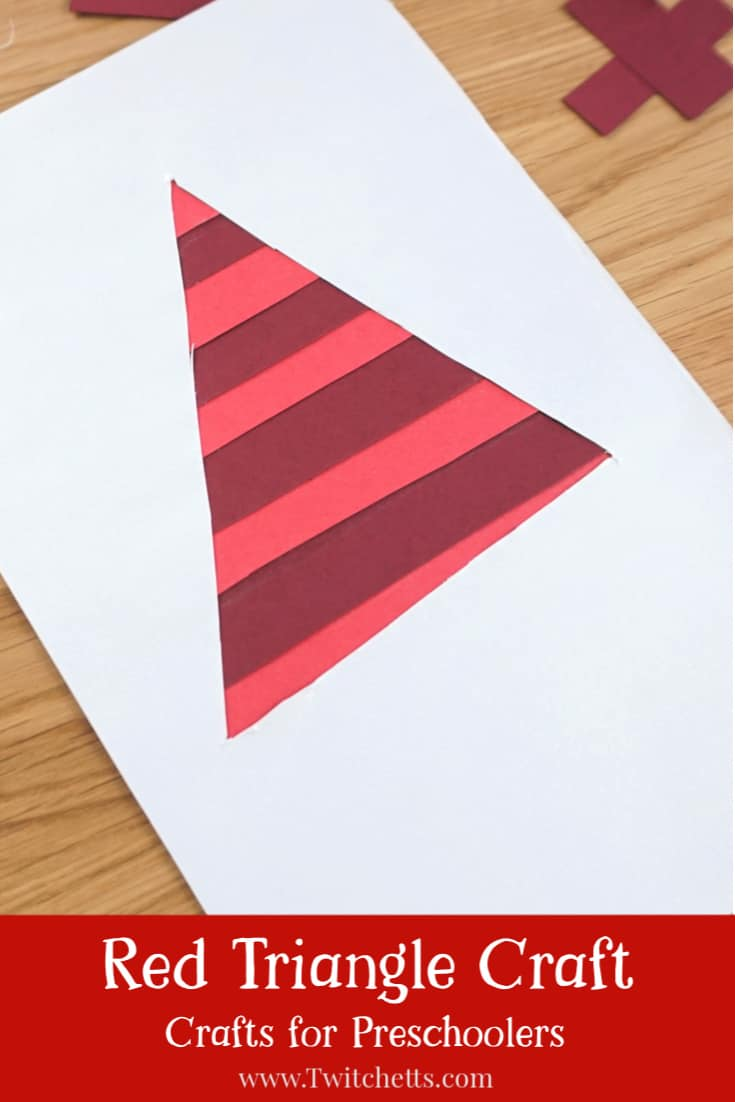 triangle crafts for preschoolers while practicing cutting skills. #twitchetts