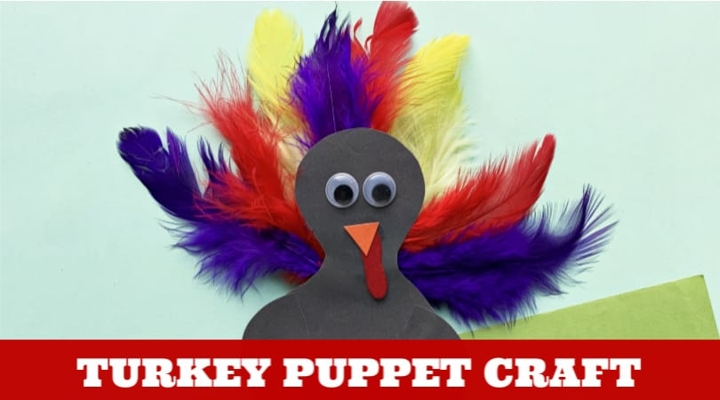 Create an easy paper turkey puppet craft with these step by step instructions