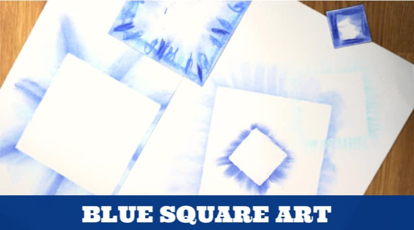 This blue color day art and craft idea is perfect for a preschool class. Let your students experiment with a fun art medium while learning about the color blue or the square shape.