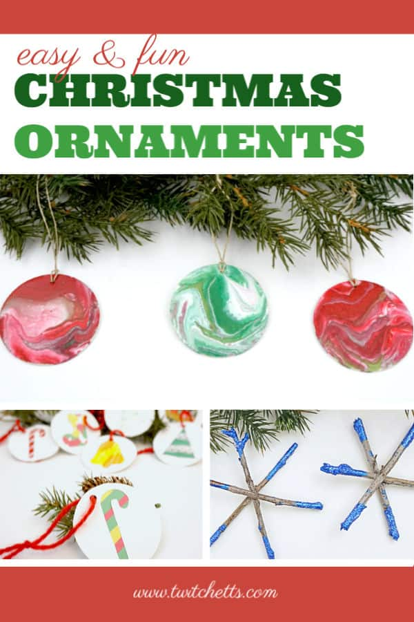 easy and fun Christmas ornaments that kids can make