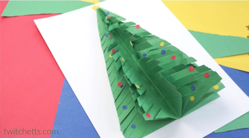 How to make a paper Christmas tree for preschoolers