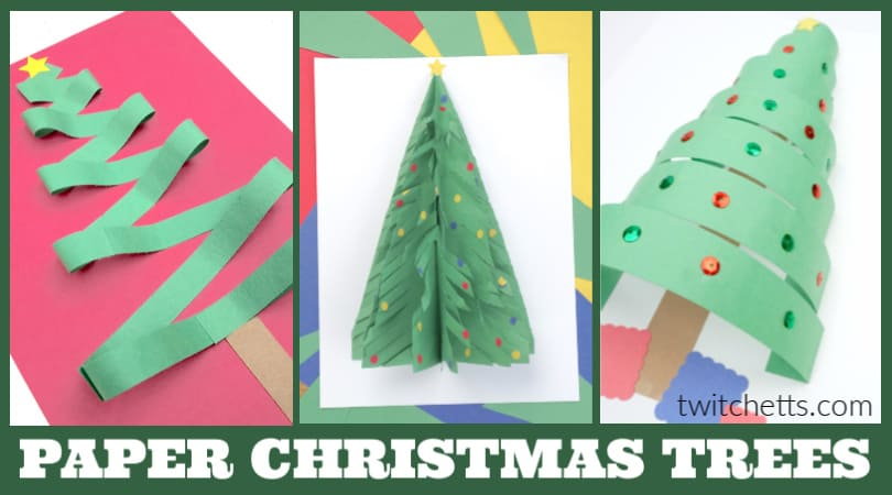 These simple Christmas tree crafts for kids are perfect for the holiday season. Make them in your classroom, during a Christmas party, or to decorate your playroom. They are so easy to make, the possibilities are endless!