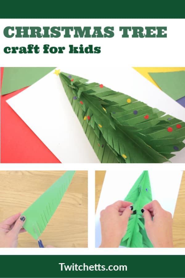 how to make a paper Christmas tree. Perfect for a classroom craft. #twitchetts