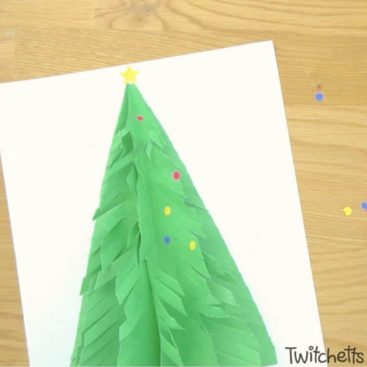 Fringe Cut Construction Paper Tree