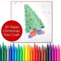 Paper Christmas Tree Craft template