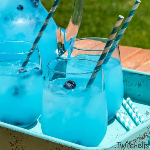 blue drink for preschool food day