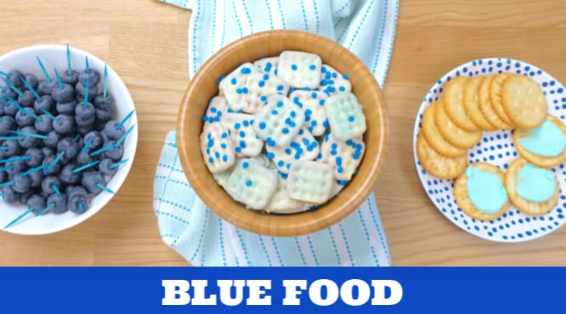 Blue foods that are perfect for a preschool class party
