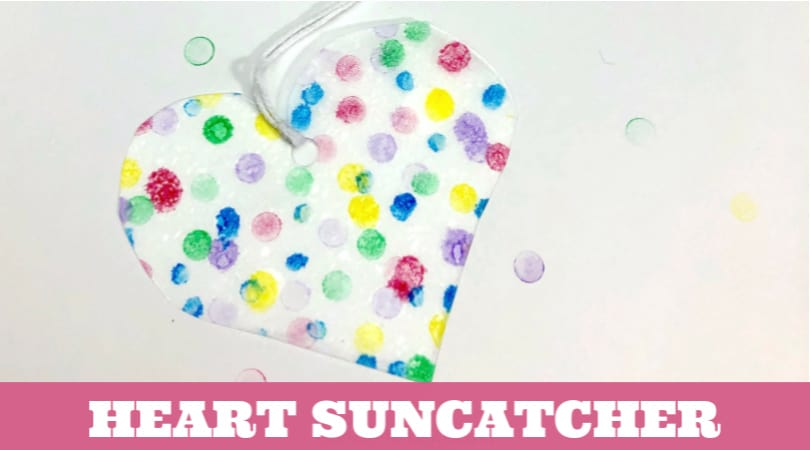 This simple Valentine's Day suncatcher craft is perfect for class parties, Sunday school, or for your preschooler to gift to loved ones.