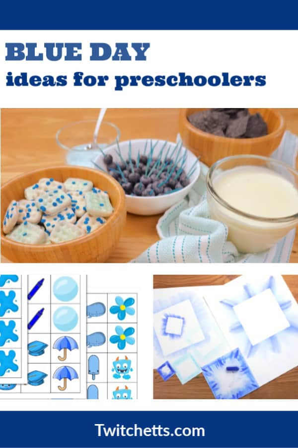 Create memories with theseblue day activities for preschool. Your kids will love learning about the color blue while you have a fun celebration. Enjoy blue foods, decorations, crafts, and more. #twitchetts