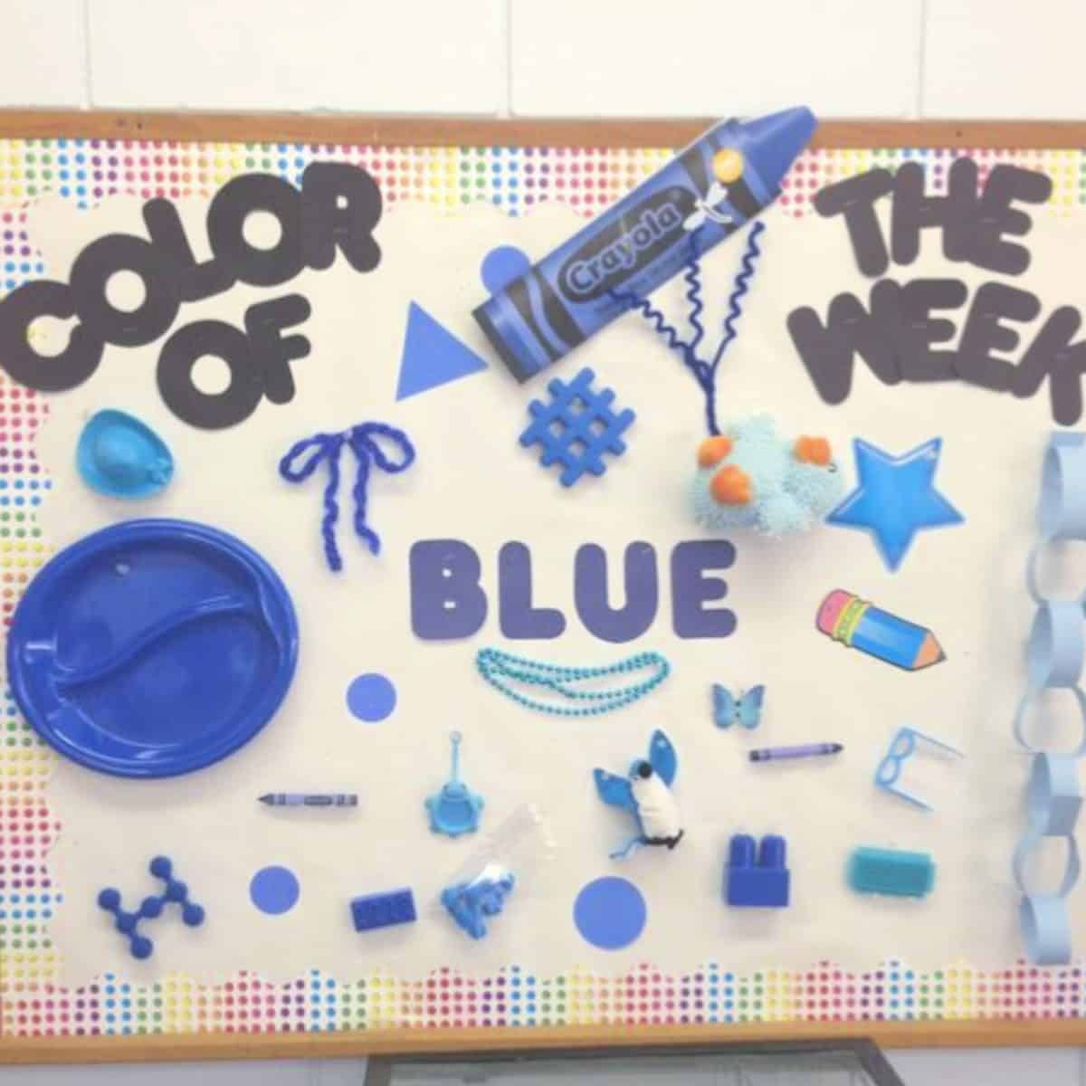 blue day bulletin board