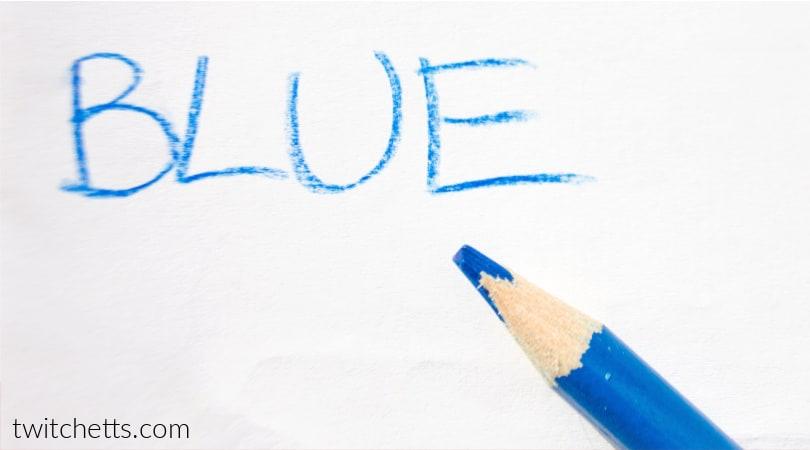 Color blue worksheets for preschool