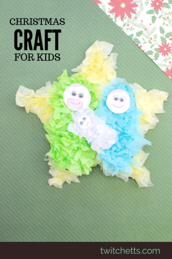 This easy nativity craft is perfect for Sunday school or a holiday party. #twitchetts