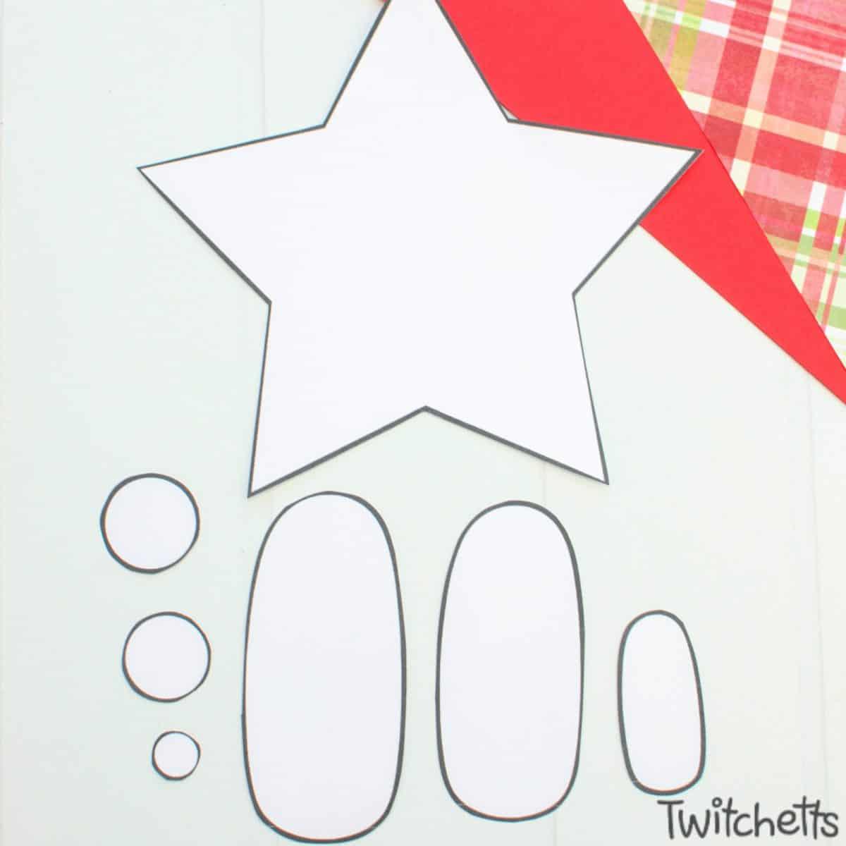 Easy nativity craft for preschoolers. Step 1