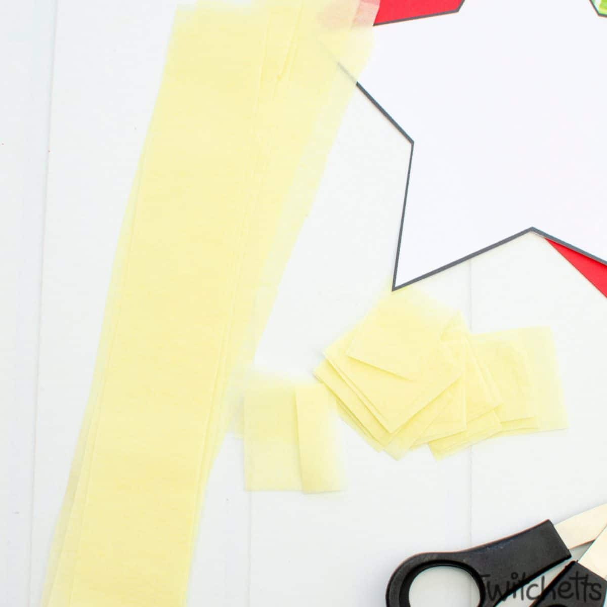 Easy nativity craft for preschoolers. Step 2