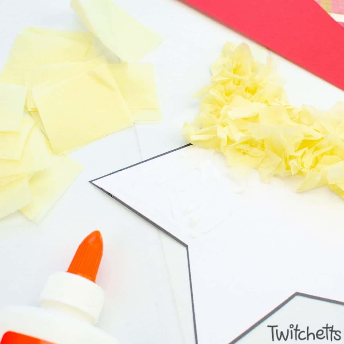 Easy nativity craft for preschoolers. Step 3