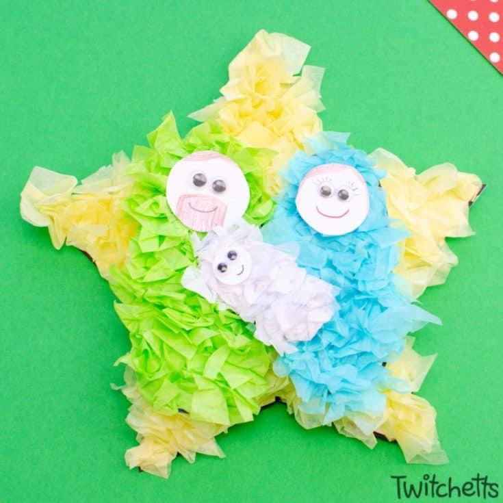 Easy nativity craft for preschoolers.