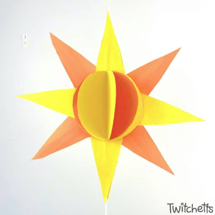 3D Hanging Sun