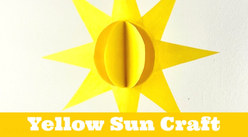 This sun craft for preschoolers is perfect for a fun yellow day activity or summer craft. Grab your stash of construction paper, some scissors, and glue and you can make an easy 3D paper craft.