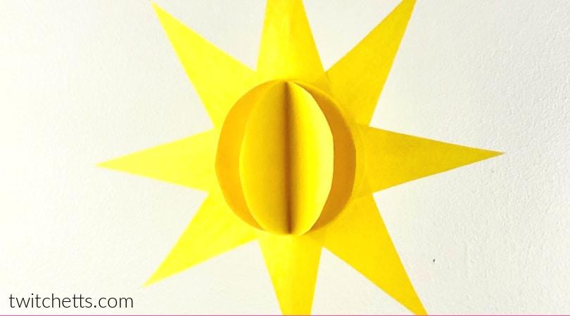 An easy yellow sun craft for preschoolers