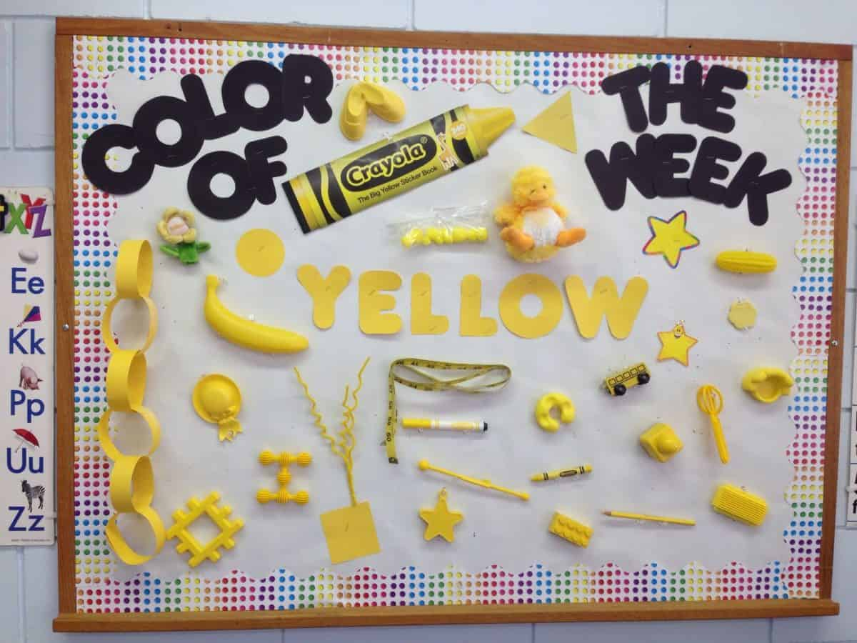 Create memories with a yellow day celebration in preschool. Your kids will love learning about the color yellow while you have a fun celebration. Enjoy yellow foods, bulletin board, crafts, and more.