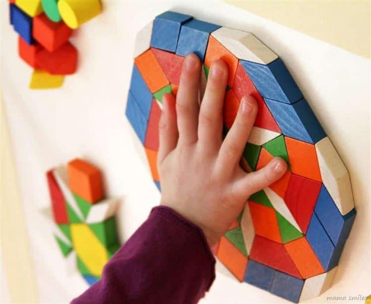 Sensory Wall Mosaic Art for Kids = Math Learning for Kids