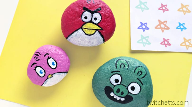 How to make Angry Birds painted rocks