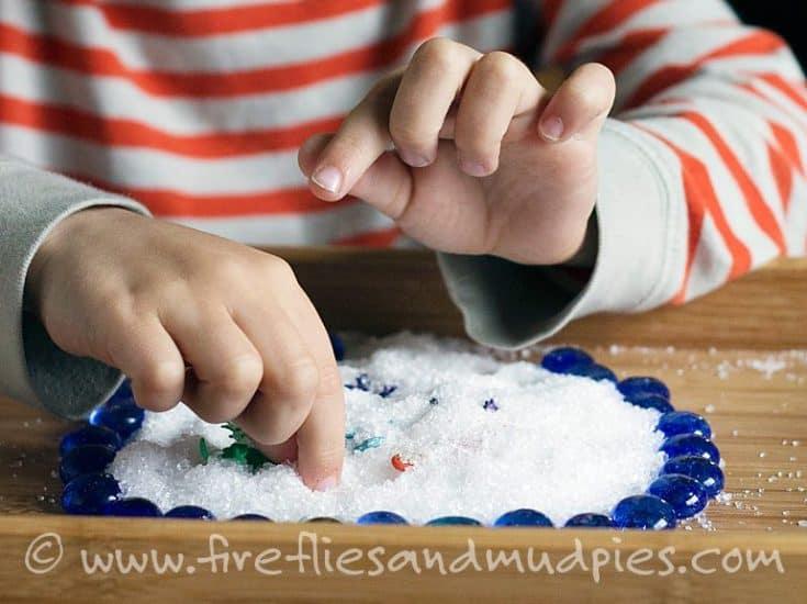 Calming Epsom Salt Sensory Play
