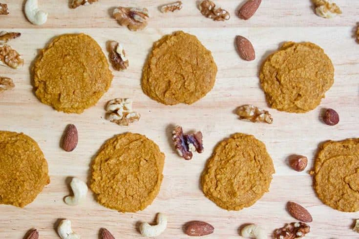 3 Ingredient KETO Pumpkin Cookies [gluten-free + vegan]