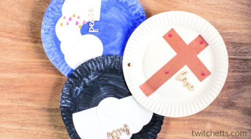 This resurrection paper plate craft is the perfect religious Easter craft for your Sunday School or Easter party. Grab the template and let your kids start creating!