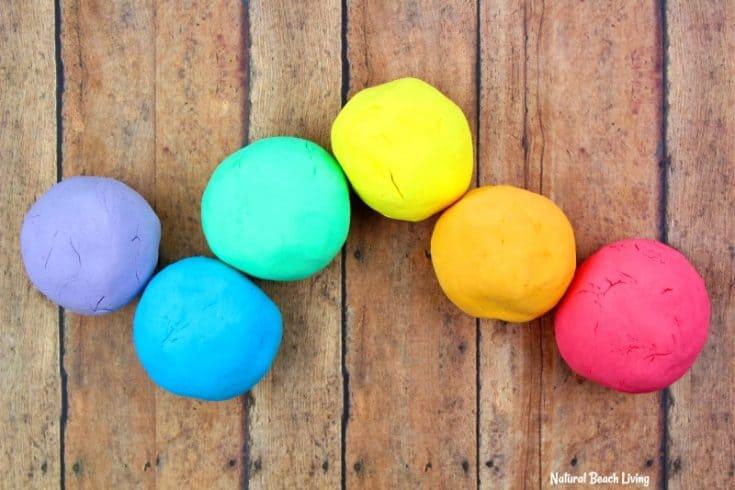 How to Make Shaving Cream Play dough Recipe - Rainbow Foam Dough