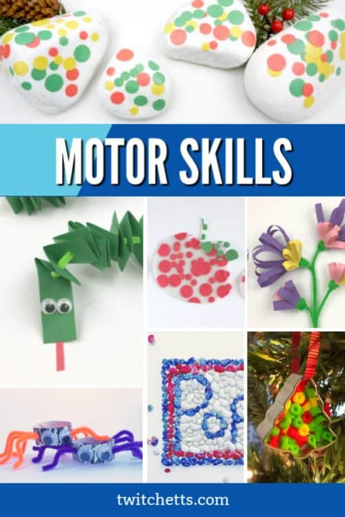 These fine motor activities are perfect for kids of all ages. Whether they are as young as 3 or in kindergarten, kids need to be developing this important skill. These crafts and activities are designed to help strengthen a child's abilities as well as help them feel creative and have fun. #twitchetts #finemotorskills
