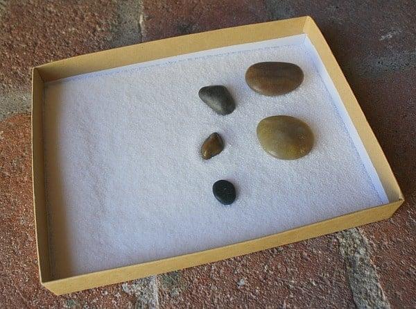 Salt Tray with Rocks and Mini Salt Tray