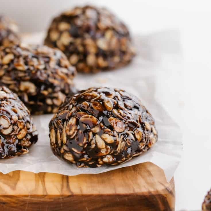 No-bake Chocolate Oatmeal Cookies (gluten-free, vegan) - Texanerin Baking