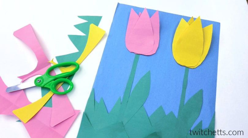 How to make easy construction paper tulips