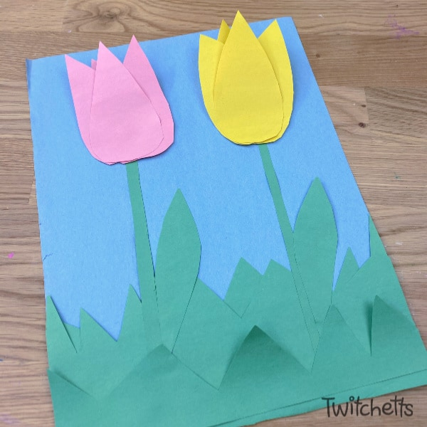 How to Make a Paper Tulip Scene