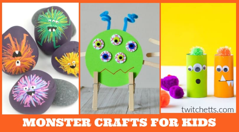 These monster crafts for preschoolers are just so cute and fun to make! Since they're geared toward early learners and preschool-aged children, why not show them while they're young that monsters aren't scary at all. Some of these activities are actually kind of cute! You'll find great ideas here that they're going to love doing.
