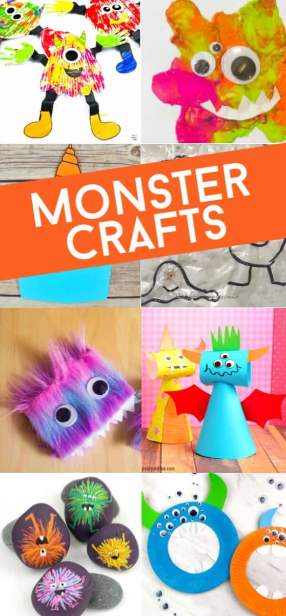These monster crafts for preschoolers are just so cute and fun to make! Since they're geared toward early learners and preschool-aged children, why not show them while they're young that monsters aren't scary at all. Some of these activities are actually kind of cute! You'll find great ideas here that they're going to love doing. #twitchetts #monstercrafts