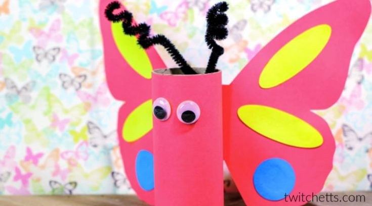 How to make a Toilet Paper Roll Butterfly with template