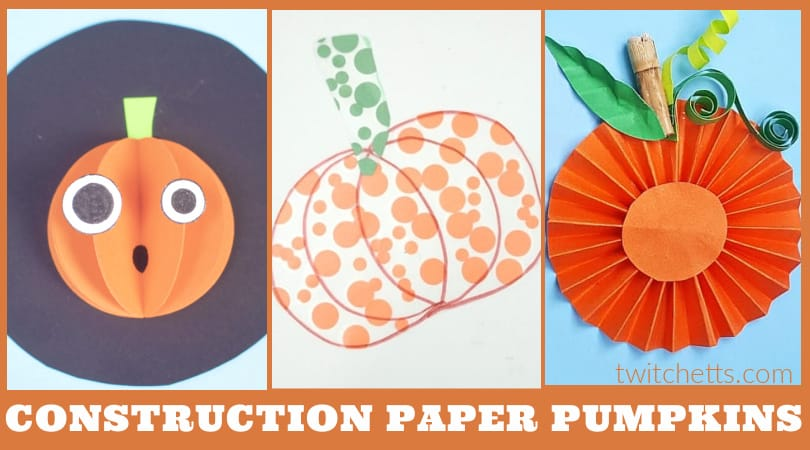 Create these easy pumpkin construction paper crafts with your toddlers or preschoolers. Each of these crafts is perfect for sneaking in fine motor skill building, scissor practice, or just to help learn about following instructions. Grab some orange paper and check out these fun fall crafts!