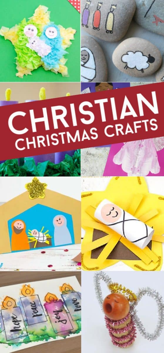 These easy Sunday School Christmas crafts for kids are perfect for keeping Christ in Christmas this holiday season. Use them during Advent, in the classroom, with your daycare, or at your kitchen table. #twitchetts #sundayschool #christmas