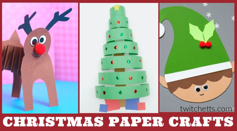 These easy construction paper Christmas crafts for kids are perfect for a classroom activity, holiday party, for kids to make as Christmas gifts, or any other holiday crafting need.