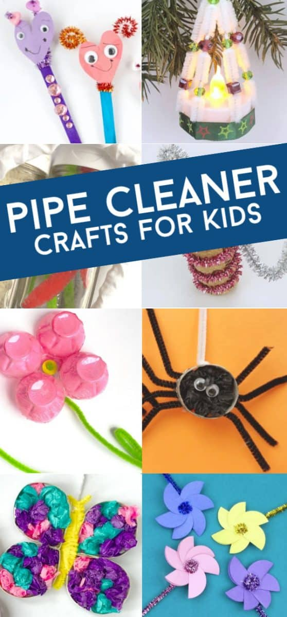 Pipe cleaner crafts are great for kids of all ages. This collection of easy crafts are perfect for the classroom or at home. From everyday crafts to holiday fun, you'll find something for everyone! #twitchetts #pipecleaners