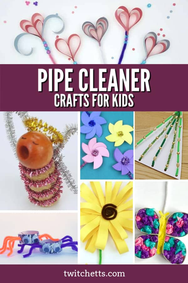 Pipe cleaner crafts are great for kids of all ages. This collection of easy crafts are perfect for the classroom or at home. From everyday crafts to holiday fun, you'll find something for everyone! #twitchetts #pipecleaner