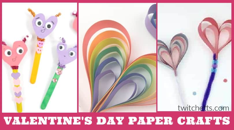 These easy construction paper Valentine crafts for kids are the perfect way to show your love this holiday. Choose a simple craft for your classroom or kitchen table.