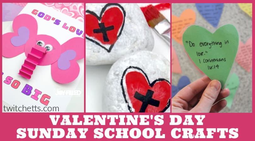 7 Sunday School Valentine Crafts for Kids