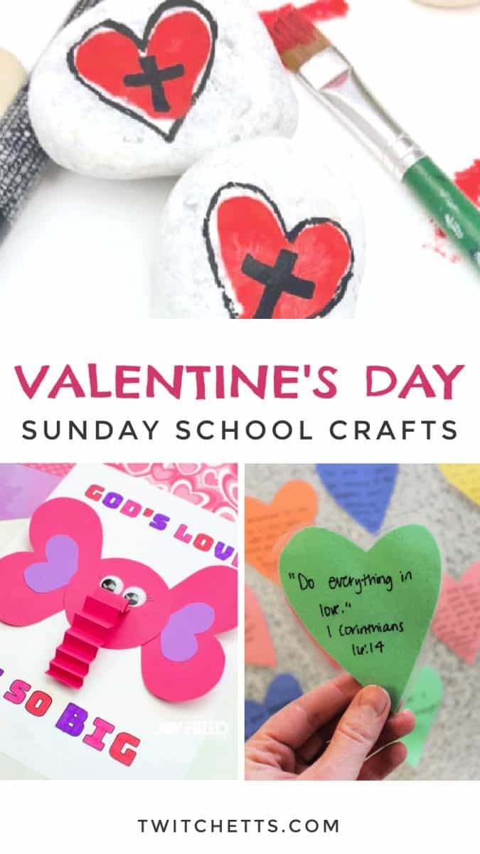 These easy Sunday School Valentine crafts for kids are the perfect way to show God's love this holiday. Choose a simple craft for to pair with your lesson plan or for some fun crafting at the kitchen table.