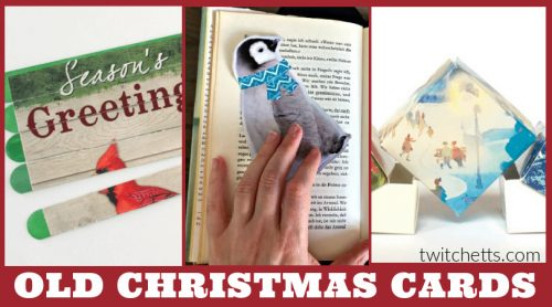 These easycrafts with old Christmas cardsare a great way to recycle all the beautiful greeting cards that you receive during the holiday season. From unique Christmas ornaments to fun boredom busters. How will you repurpose your old cards?