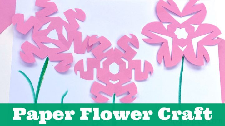 How to make snowflake shaped flowers from paper